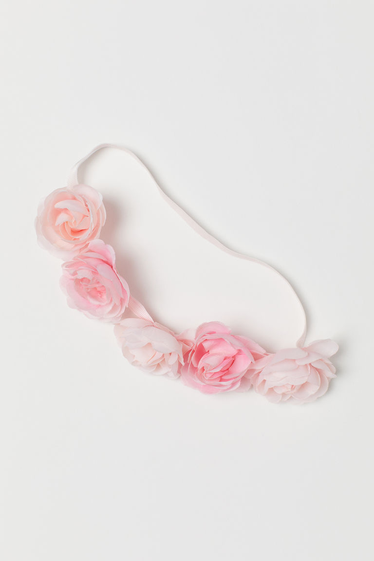 Hairband with flowers - Light pink - Kids | H&M