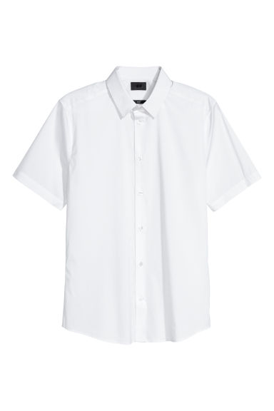 Stretch shirt Slim fit - White -  | H&M CN
