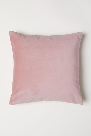 Cotton velvet cushion cover - Light pink -  | H&M GB