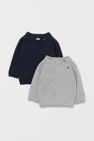 2-pack fine-knit jumpers