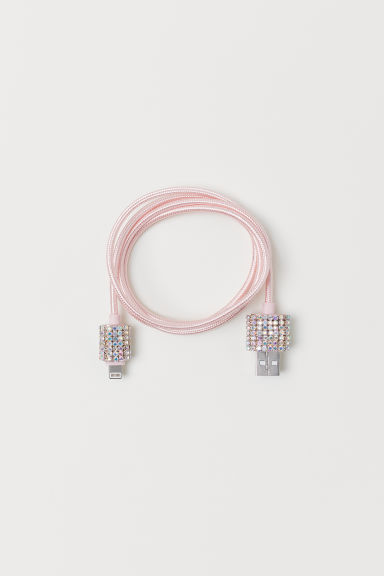 Charging cable - Light pink - Ladies | H&M
