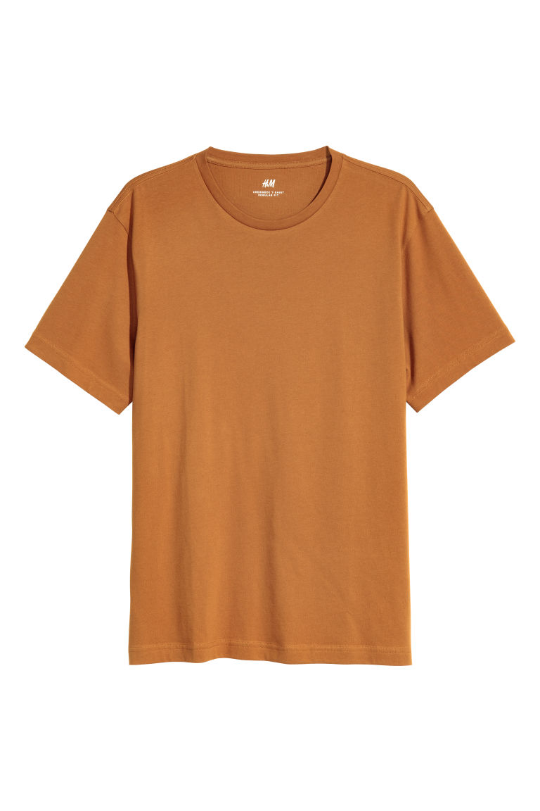 Cotton T-shirt Regular fit - Ochre - Men | H&M