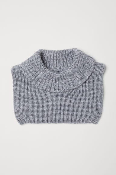 Wool polo-neck collar - Light grey marl -  | H&M