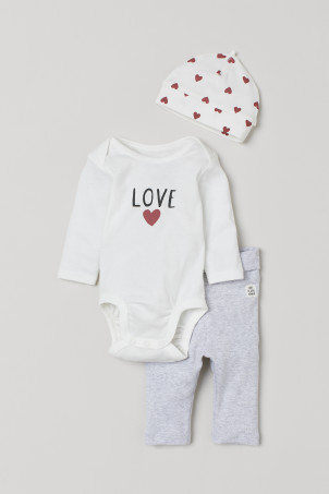 3-piece cotton jersey set