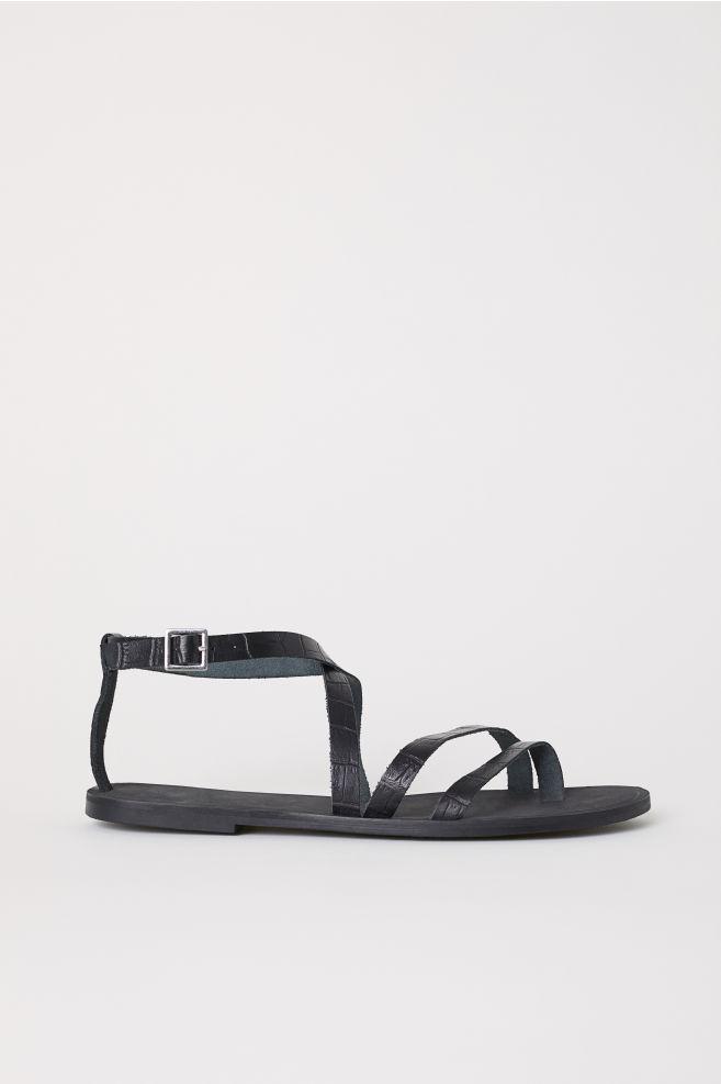bf28dc6ccfff Kožené sandále - čierna - ŽENY
