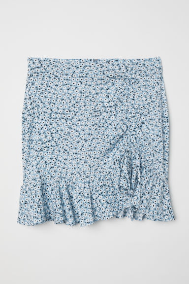 Drawstring skirt - Light blue/Floral -  | H&M CN