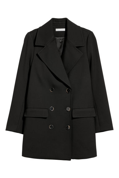 Double-breasted coat - Black - Ladies | H&M