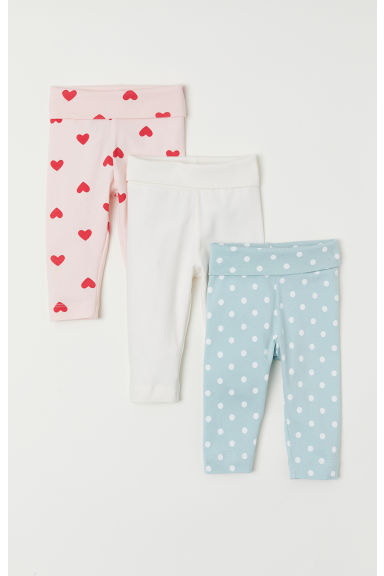 3-pack leggings - Mint green/Spotted - Kids | H&M