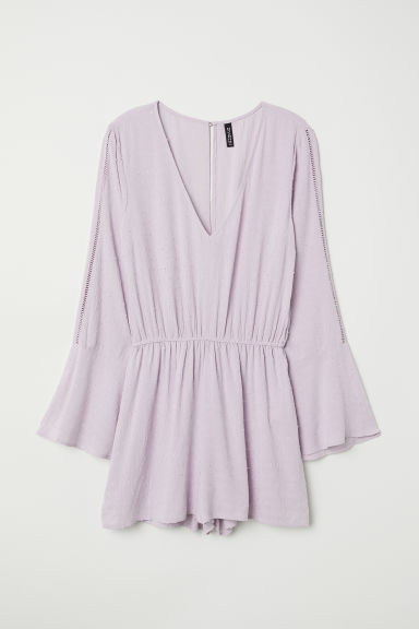 Plumeti chiffon playsuit - Light purple - Ladies | H&M
