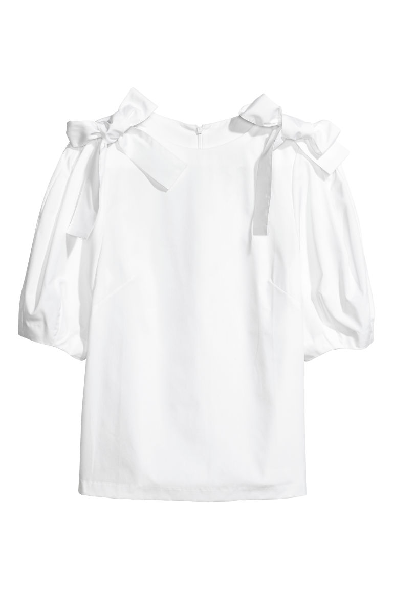 Cotton blouse - White - Ladies | H&M