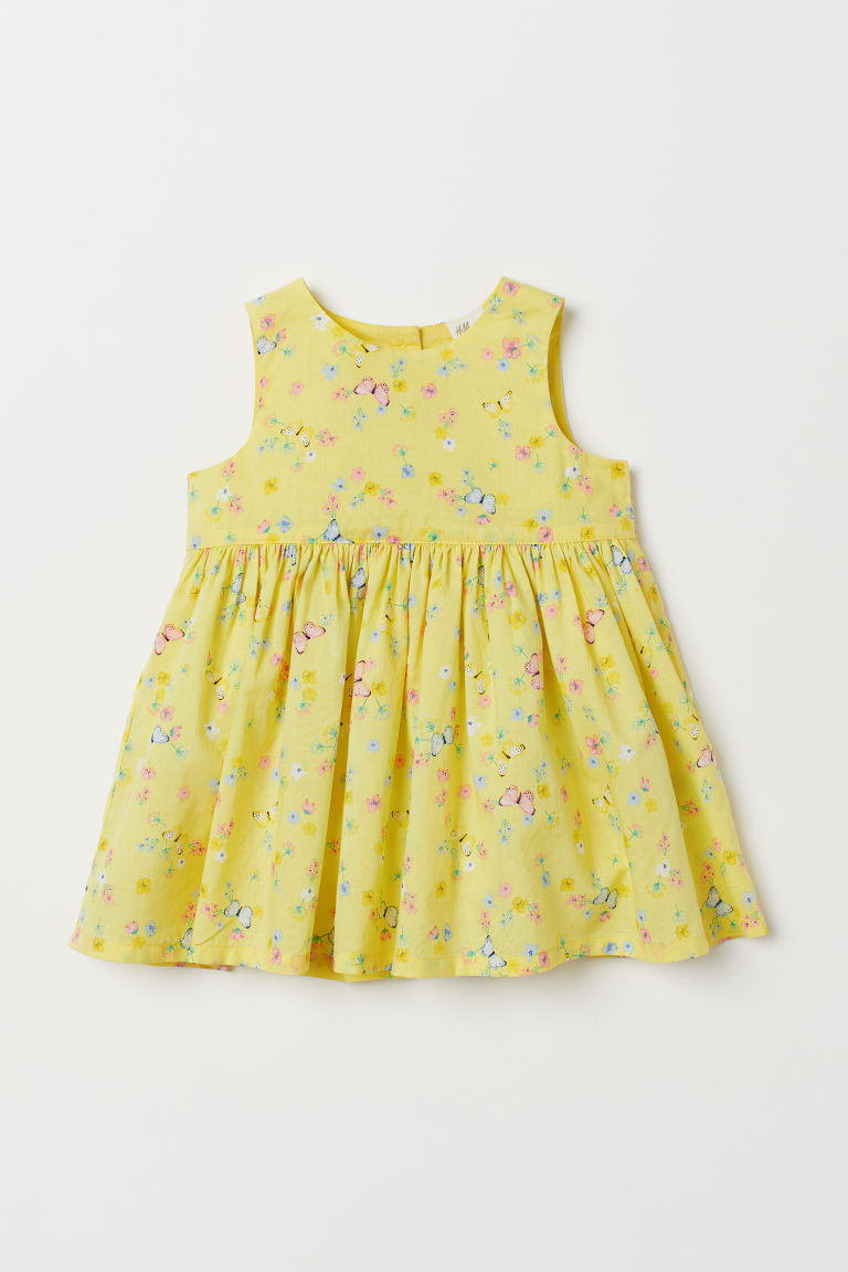 Cotton dress - Yellow/Butterflies - Kids | H&M