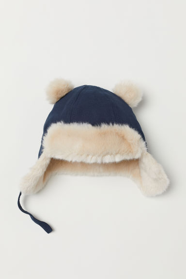 Fleece-lined Hat - Dark blue - Kids | H&M US