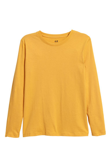 Top in jersey - Giallo senape - BAMBINO | H&M IT