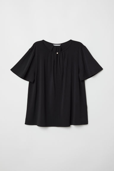 Top van crêpetricot - Zwart - DAMES | H&M BE