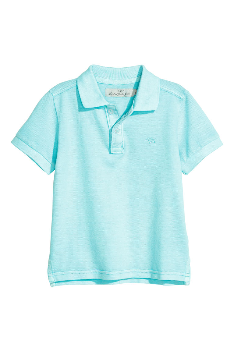 Polo shirt - Light turquoise - Kids | H&M CN