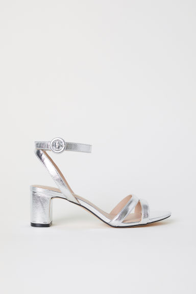 Sandals - Silver-coloured - Ladies | H&M CN