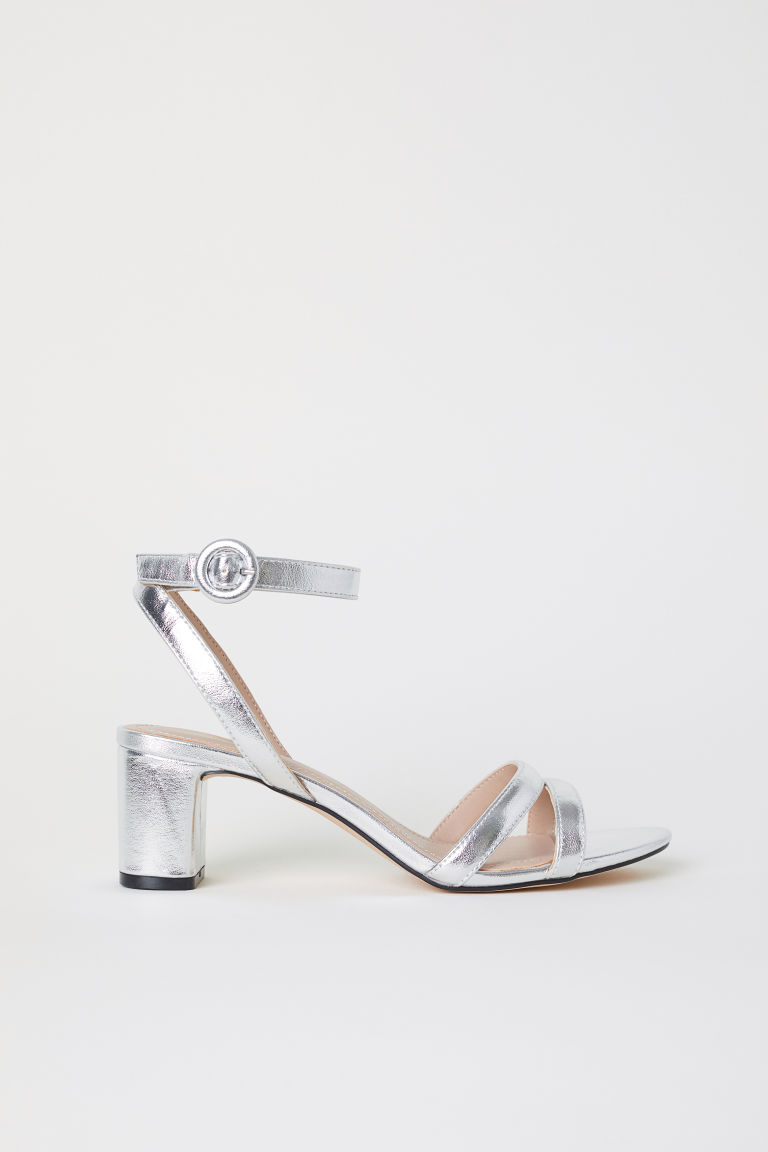 Sandals - Silver-colored - Ladies | H&M US