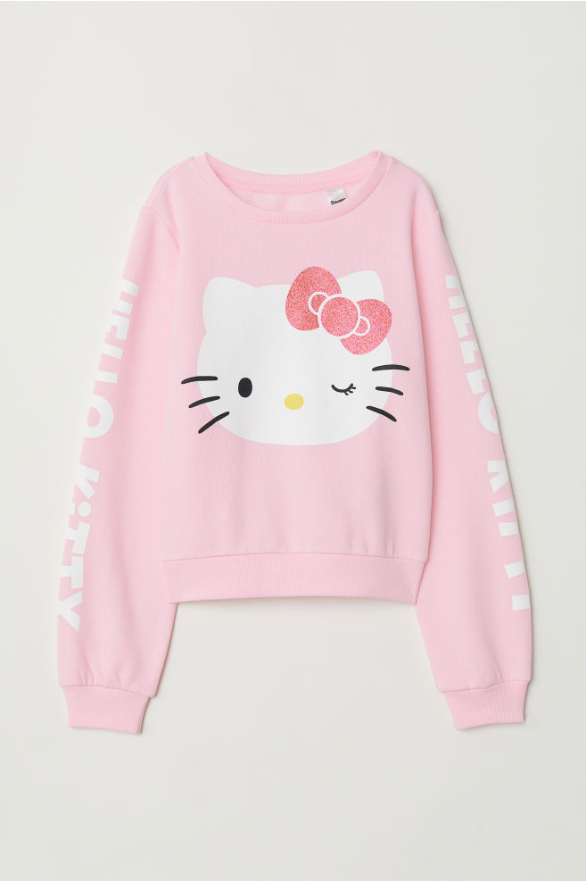 5b5e231be Sweatshirt with Printed Design - Pink/Hello Kitty - | H&M ...