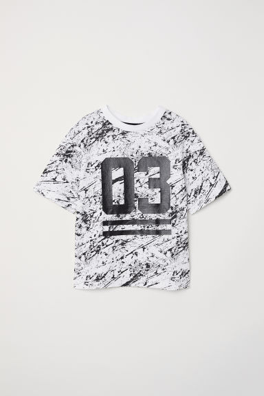 Camiseta con estampado - Blanco natural/03 -  | H&M ES