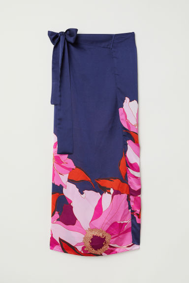 Sarong - Dark blue/Patterned -  | H&M