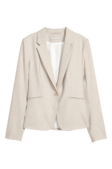Fitted jacket - Light beige -  | H&M