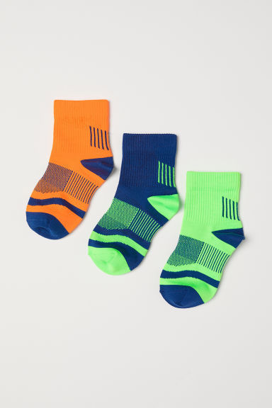 3-pack sports socks - Neon green -  | H&M CN