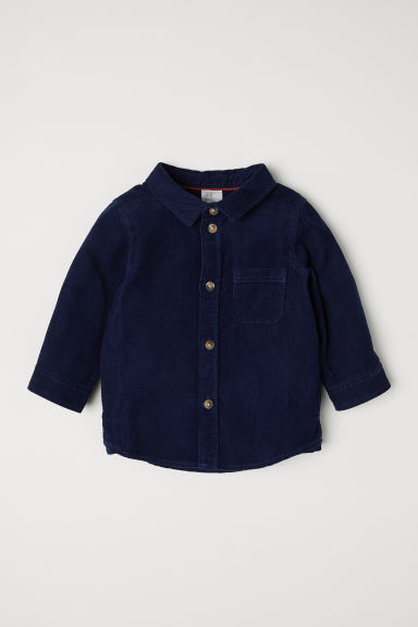 Corduroy shirt - Dark blue - Kids | H&M