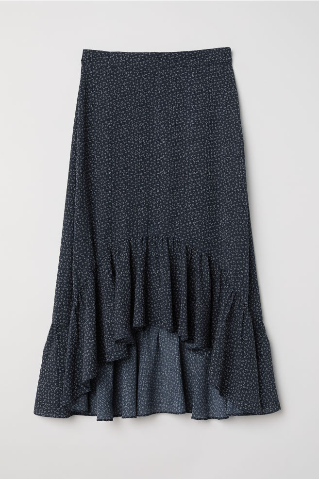 9ce78e6c95d Flounced Skirt - Dark blue small floral - Ladies
