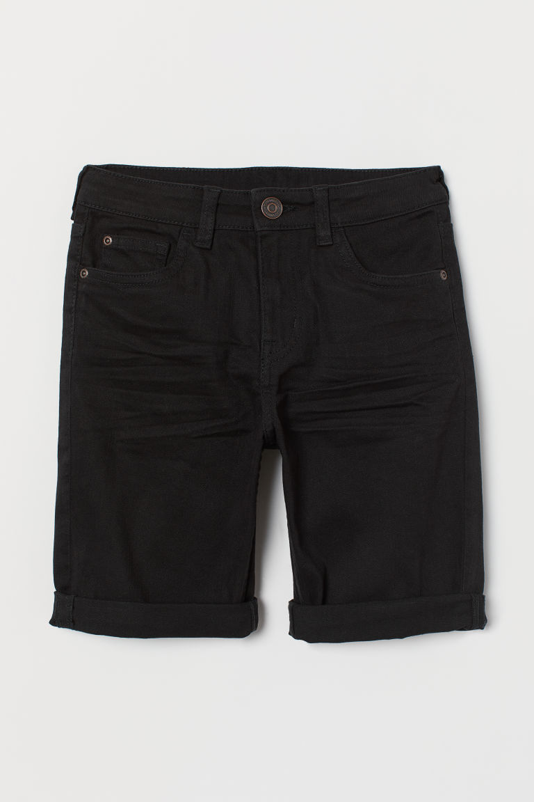 Twill shorts - Black - Kids | H&M CN