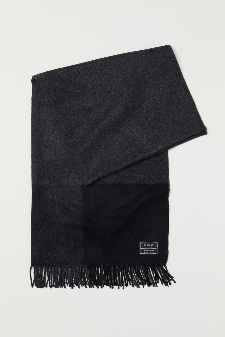 Scarf - Dark grey/Black - Men | H&M CN