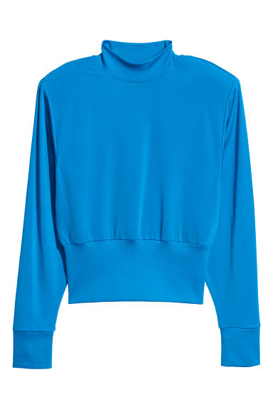 Top with shoulder pads - Sky blue - Ladies | H&M CN