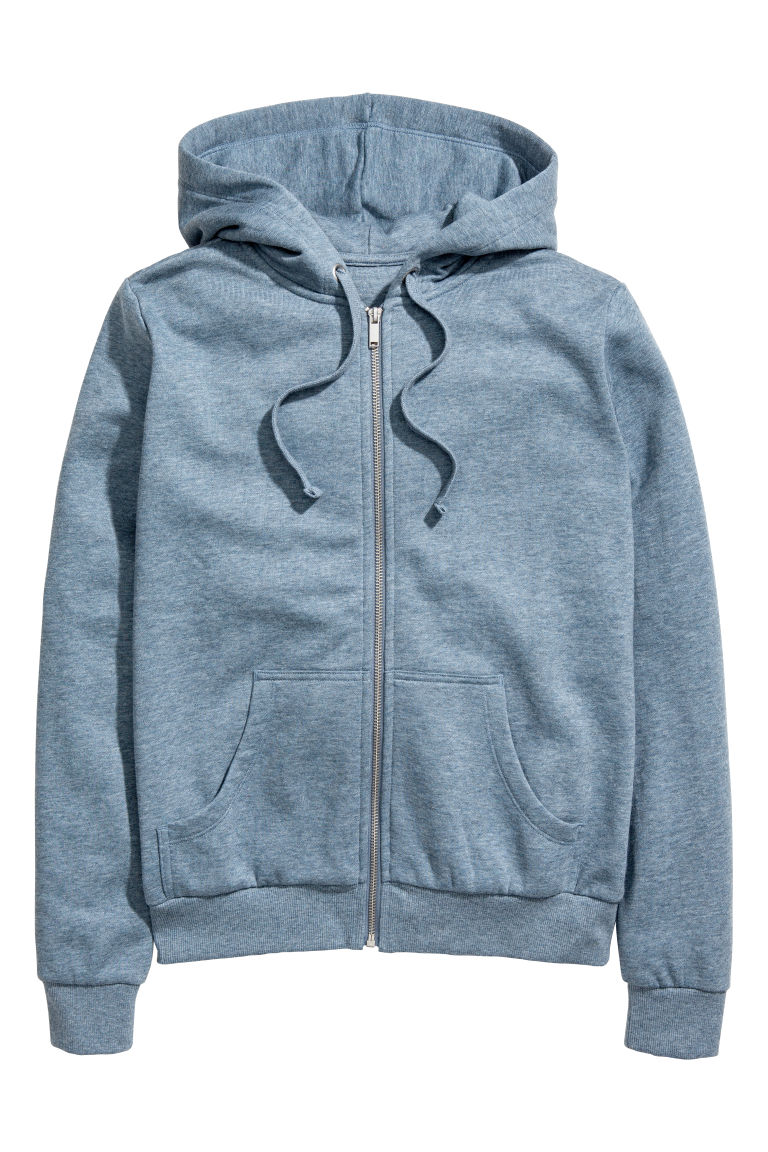 Hooded jacket - Blue marl - Ladies | H&M GB