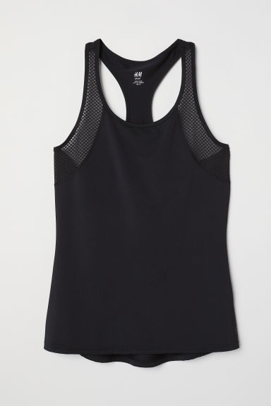 Running vest top - Black -  | H&M CN