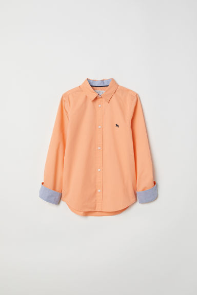 Cotton shirt - Orange - Kids | H&M IE