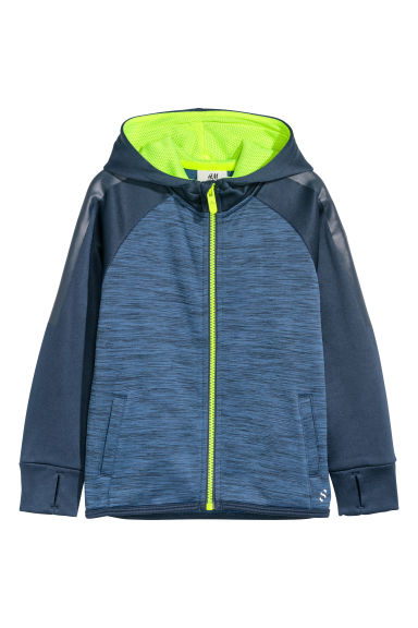 Sports jacket - Dark blue marl - Kids | H&M CN