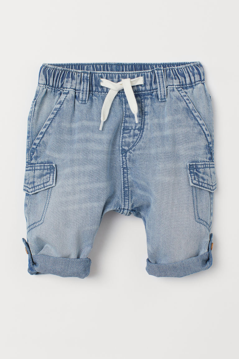 Pantalon en denim de coton - Bleu denim clair - ENFANT | H&M BE