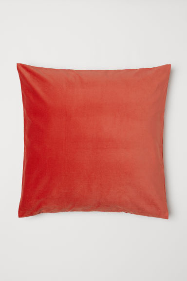 Cotton velvet cushion cover - Dark orange - Home All | H&M CN