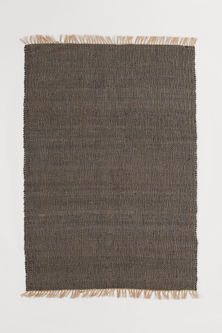 Jute rug - Anthracite grey/Natural - Home All | H&M GB