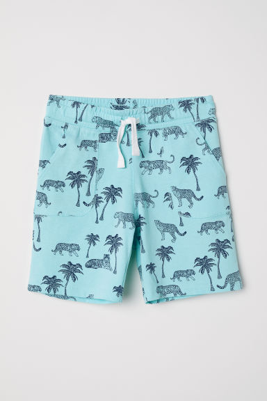 Jersey shorts - Light turquoise/Tigers - Kids | H&M GB