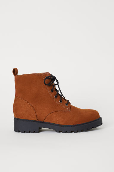 Pile-lined boots - Brown - Ladies | H&M CN