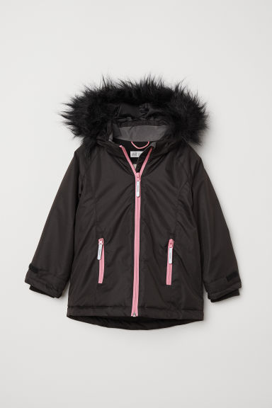 Padded outdoor jacket - Black - Kids | H&M