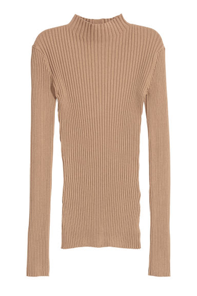 Ribbed jumper - Camel - Ladies | H&M