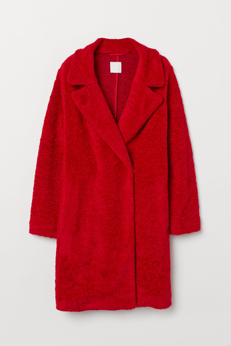 Pile coat - Red - Ladies | H&M