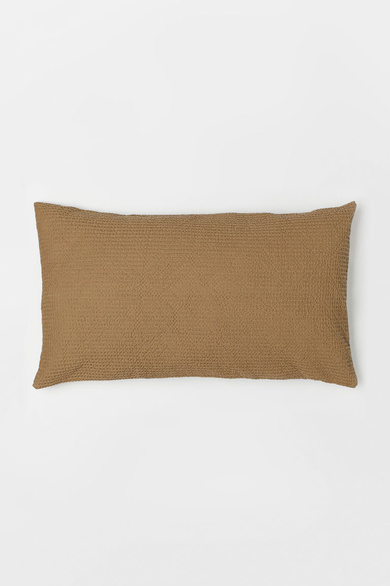 Washed Cotton Cushion Cover - Dark beige - Home All | H&M CA