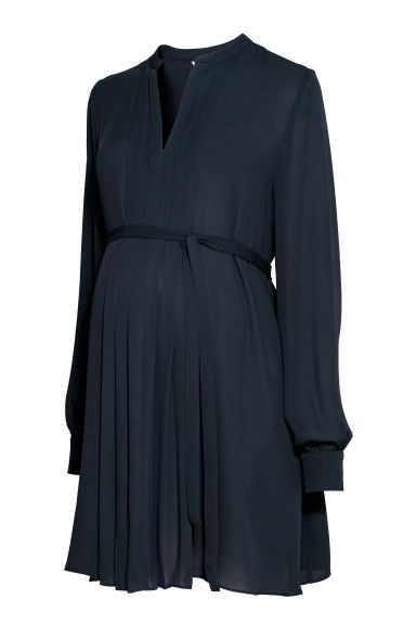 MAMA V-neck tunic - Dark blue -  | H&M