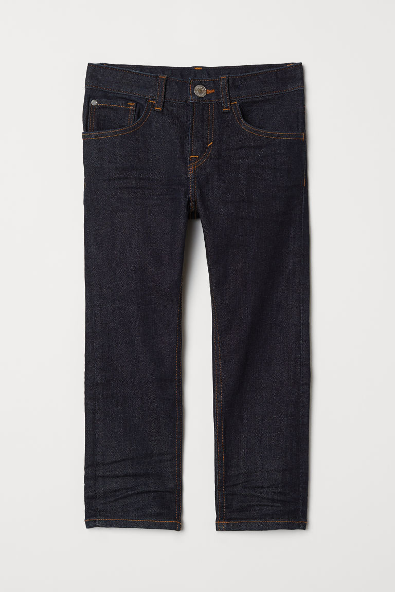 Slim Fit Jeans - Dark blue denim - Kids | H&M GB