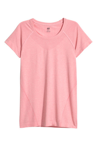 Seamless sports top - 粉紅混色 - Ladies | H&M