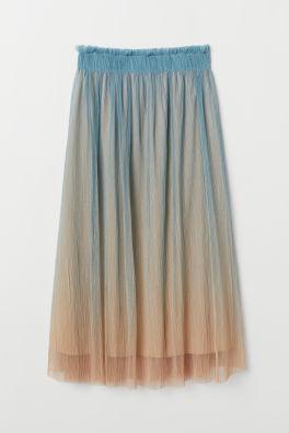 ec337d33392 Pleated Mesh Skirt
