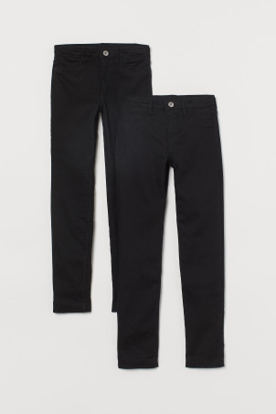 Lot 2 Skinny Fit Lined Jeans