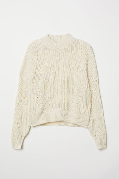 Ribbed jumper - Natural white - Ladies | H&M IE